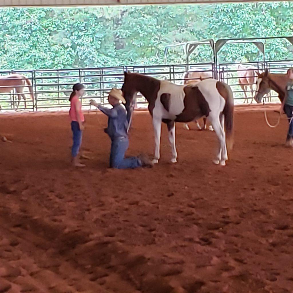 Brent Graef teaching horsemanship
